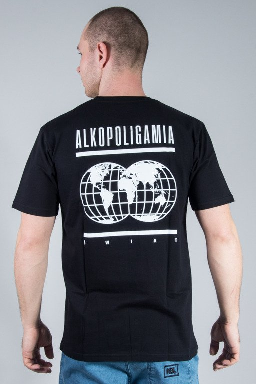 ALKOPOLIGAMIA T-SHIRT GLOB BLACK