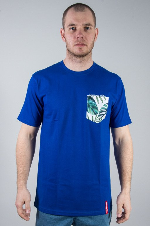 ALKOPOLIGAMIA T-SHIRT LYL BOTANIX POCKET BLUE