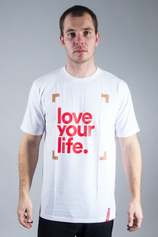 ALKOPOLIGAMIA T-SHIRT LYL FRAME WHITE-RED