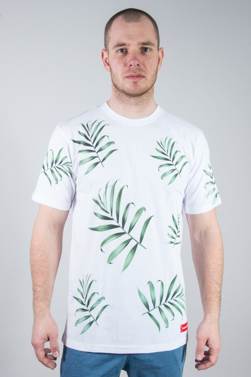 ALKOPOLIGAMIA T-SHIRT LYL PALMS WHITE