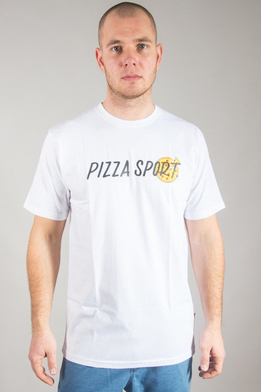 ALKOPOLIGAMIA T-SHIRT PIZZA SPORT WHITE