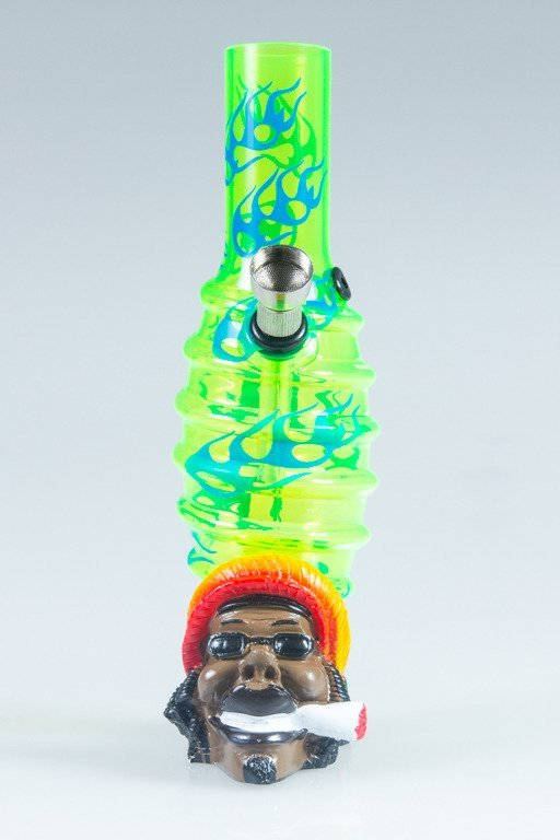 BONGO AKRYLOWE RASTA BOB FIRE BANDS GREEN-BLUE