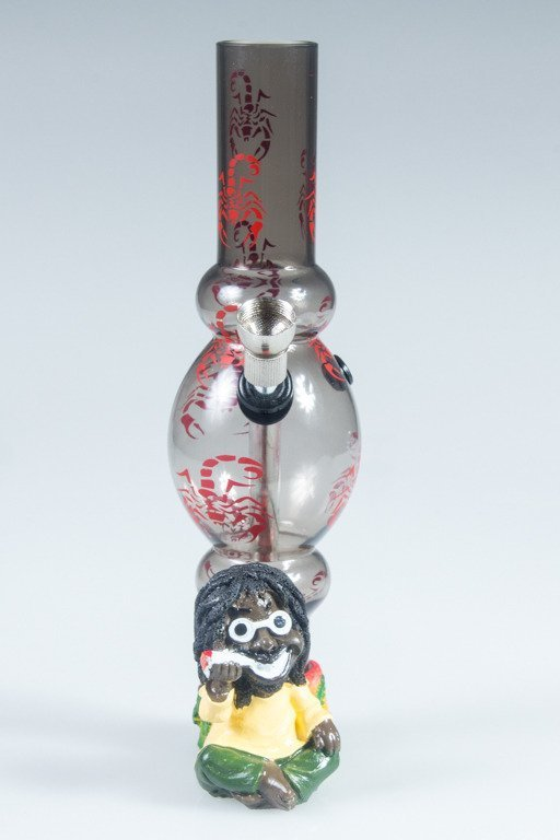 BONGO AKRYLOWE RASTA GLASS SCORPION BONG BLACK-RED