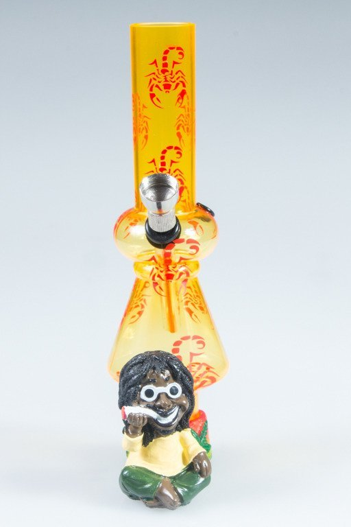 BONGO AKRYLOWE RASTA GLASS SCORPION BONG YELLOW-RED