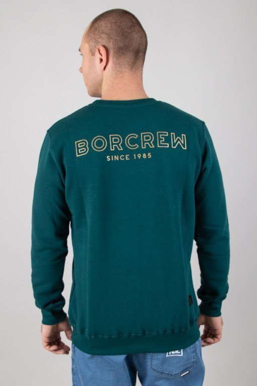 BOR CREWNECK OUTLINE BORCREW GREEN