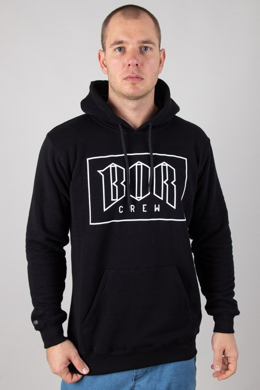 BOR HOODIE OUTLINE BOR NEW BLACK