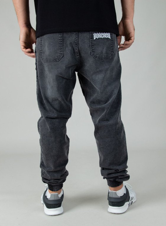 BOR PANTS JEANS JOGGER FIT GUMA CLASSIC BORCREW GREY