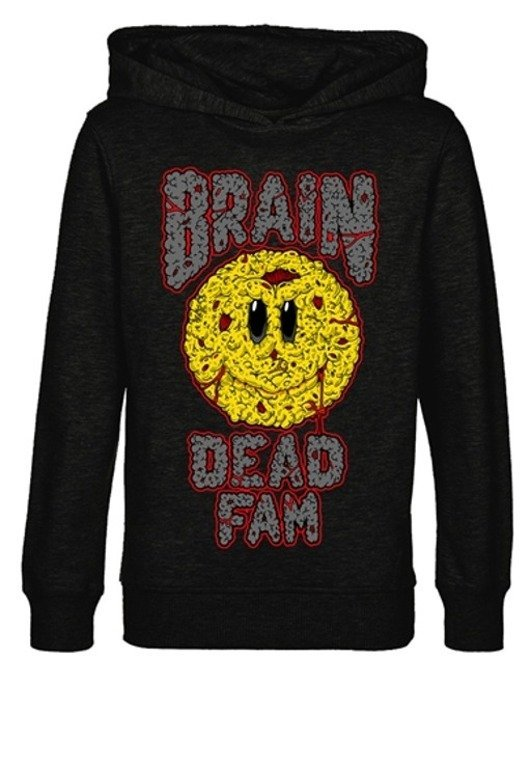 BRAIN DEAD FAMILIA BLUZA Z KAPTUREM SMILEY BLACK