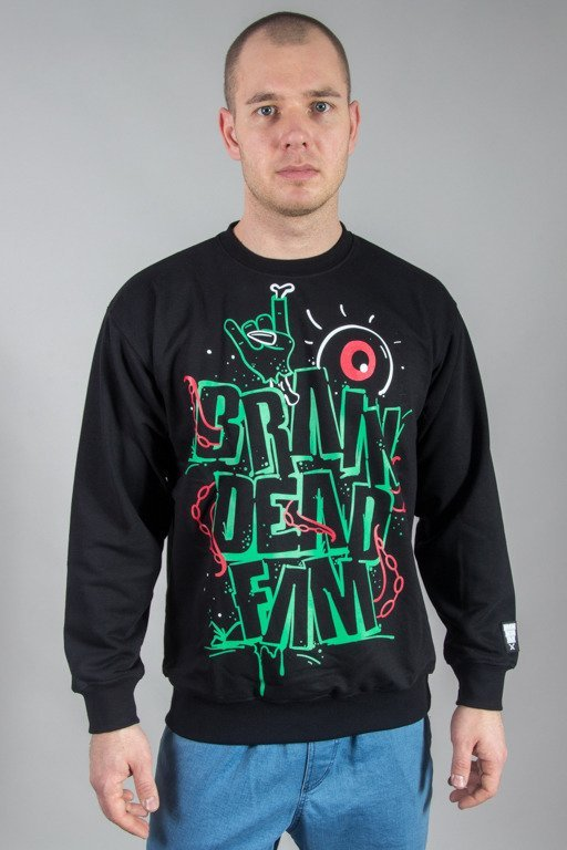 BRAIN DEAD FAMILIA CREWNECK MASSACRE BLACK