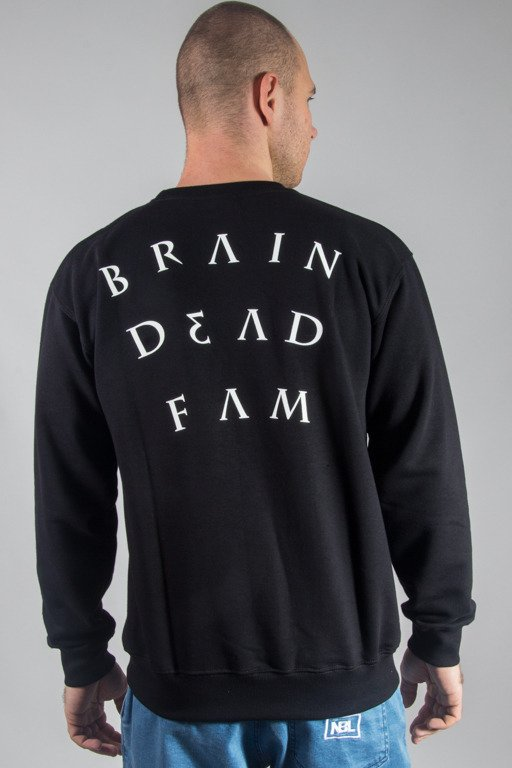BRAIN DEAD FAMILIA CREWNECK NOTE BLACK