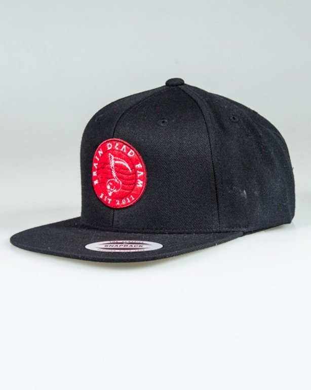 BRAIN DEAD FAMILIA SNAPBACK NOTE BLACK