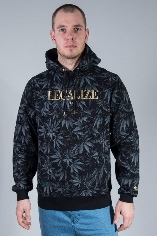 CAYLER & SONS BLUZA Z KAPTUREM LEGALIZE IT BLACK