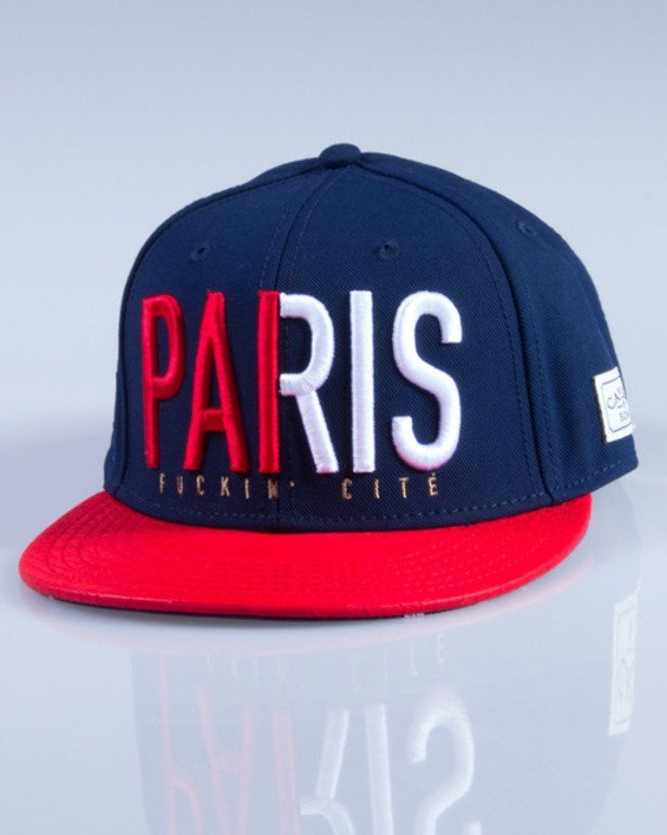 CAYLER & SONS CZAPKA SNAPBACK PARIS NAVY-RED
