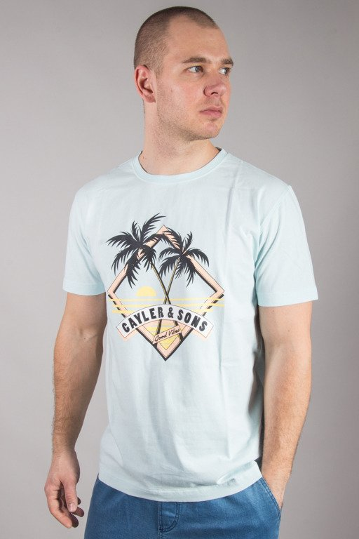 CAYLER & SONS T-SHIRT VIBIN' LIGHT BLUE