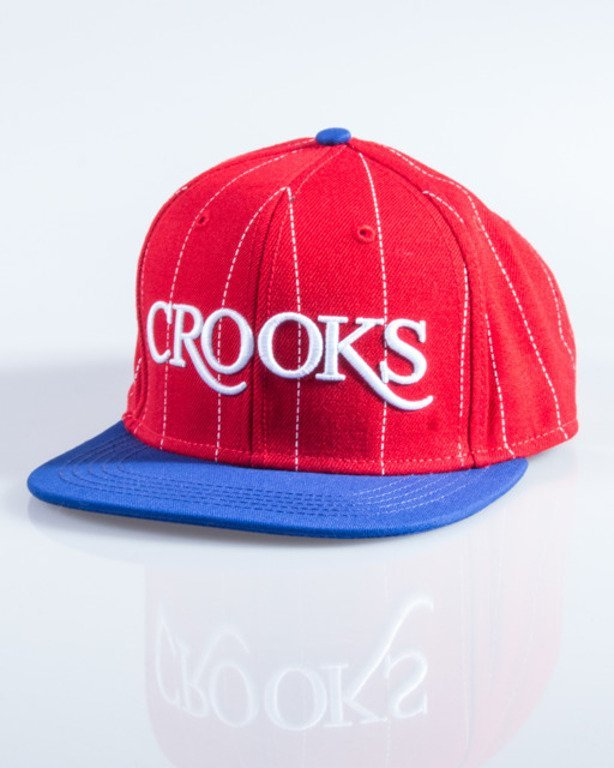 CROOKS&CASTLES CZAPKA SNAPBACK SERIF CROOKS RED-BLUE