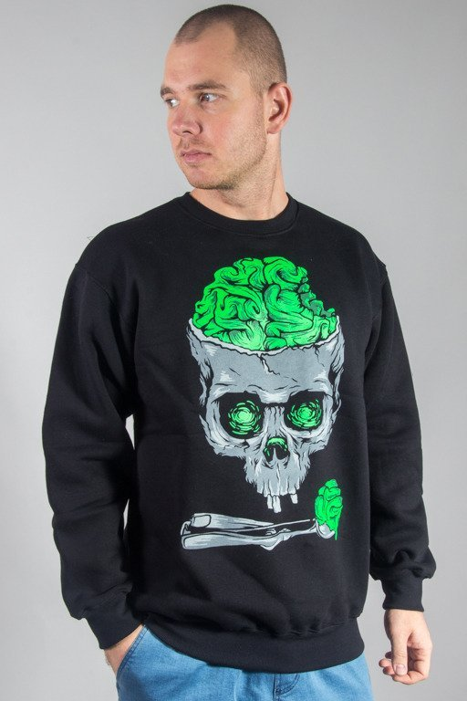 DEMONOLOGIA CREWNECK BRAIN SKULL BLACK