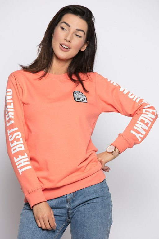 DIAMANTE CHICKS CREWNECK BEST FRIEND SALMON