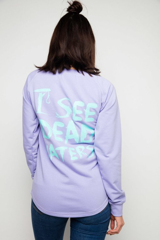 DIAMANTE CHICKS CREWNECK LONG I SEE DEAD HATERS VIOLET