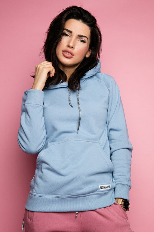 DIAMANTE CHICKS HOODIE BASIC BLUE