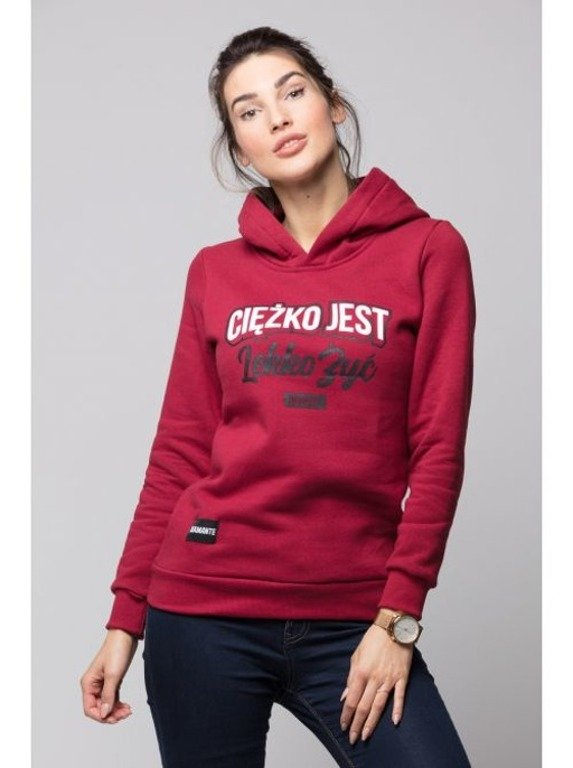 DIAMANTE CHICKS HOODIE WOMAN CIĘŻKO JEST BRICK