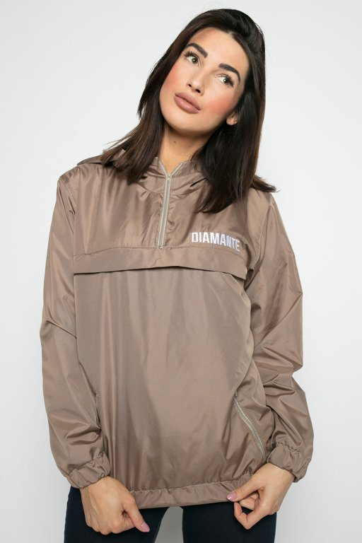 DIAMANTE CHICKS JACKET CAPPUCCINO