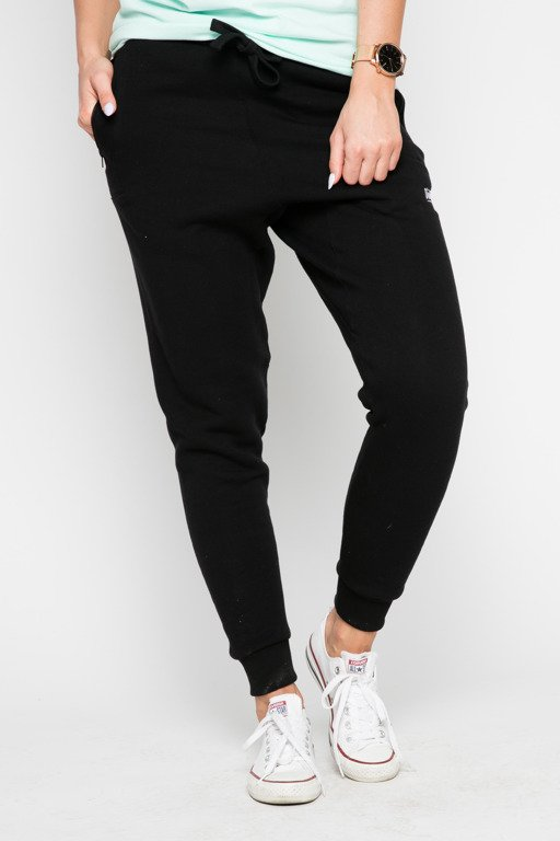 DIAMANTE CHICKS SWEATPANTS HIPSTER 2 BLACK