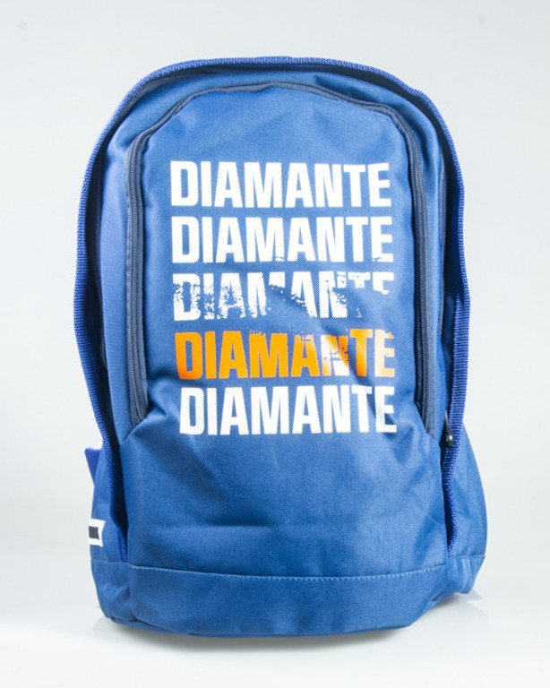 DIAMANTE WEAR BACKPACK SMALL LOGO BLUE-WHITE-ORANGE