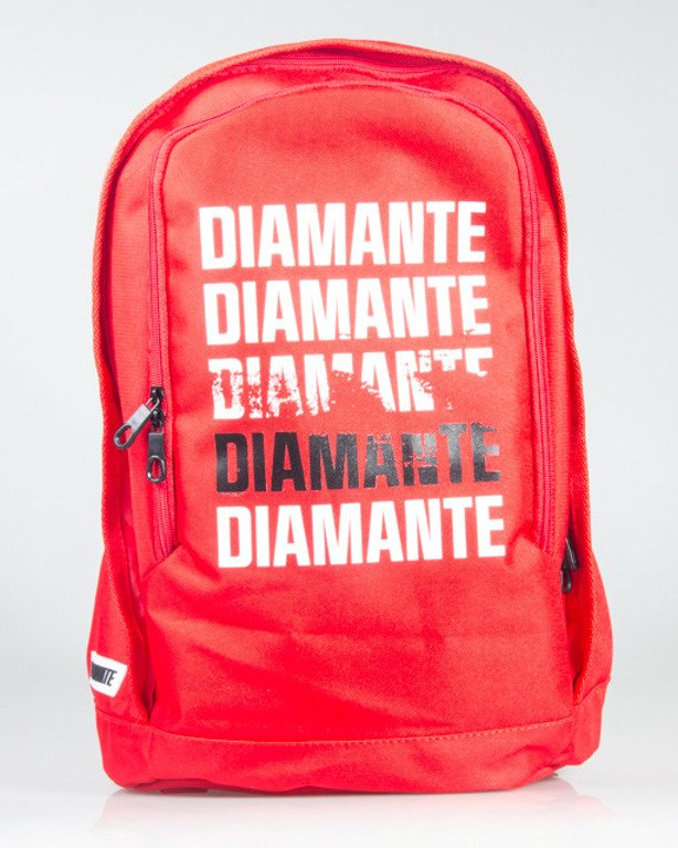 DIAMANTE WEAR BACKPACK SMALL LOGO RED-BLACK-WHITE