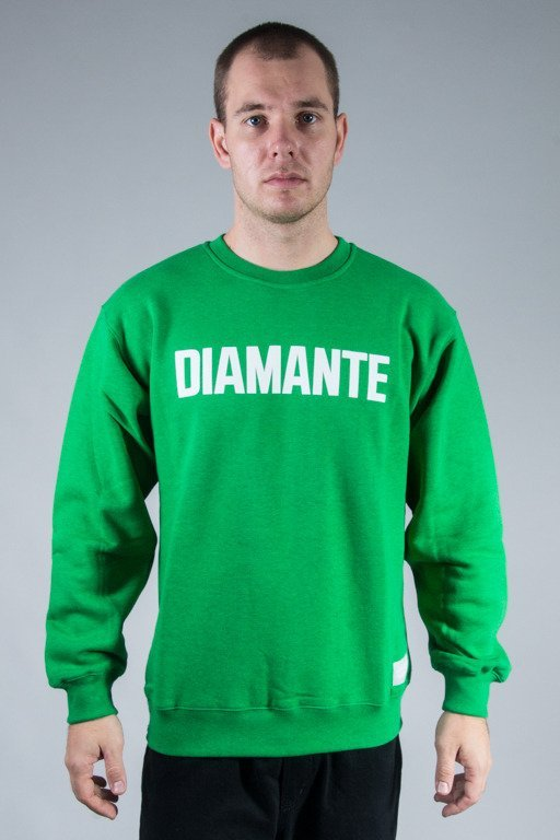 DIAMANTE WEAR BLUZA BEZ KAPTURA DIAMANTE CLASSIC GREEN