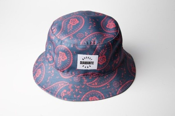 DIAMANTE WEAR BUCKET HAT BANDANA BLUE