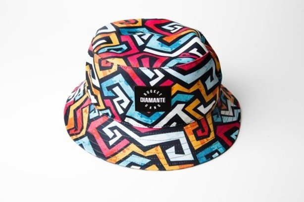 DIAMANTE WEAR BUCKET HAT ZIGZAG