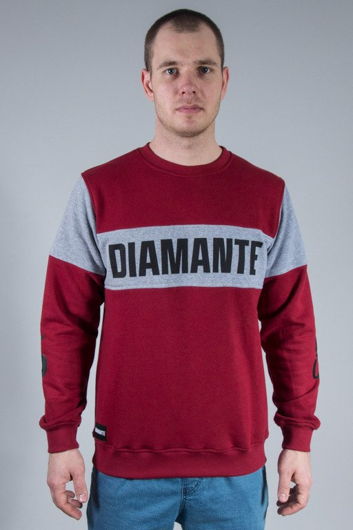 DIAMANTE WEAR CREWNECK BURGUND BLOCK BRICK
