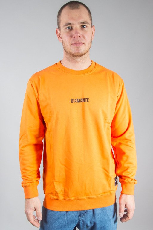 DIAMANTE WEAR CREWNECK DI ORANGE