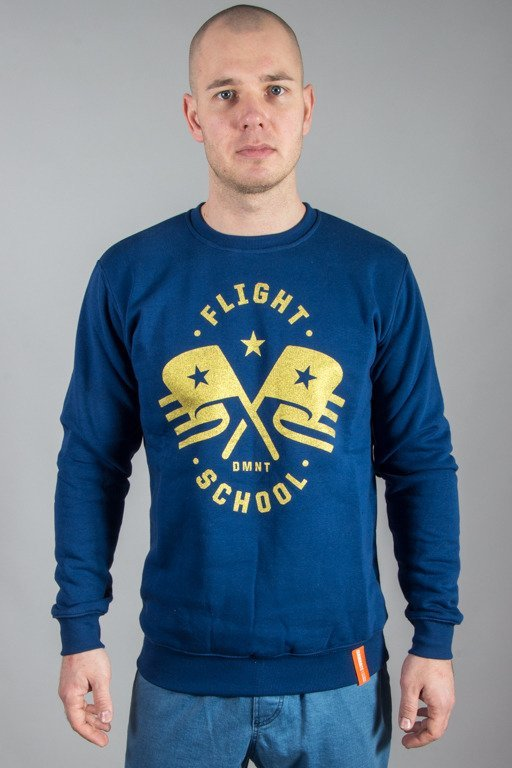 DIAMANTE WEAR CREWNECK FLIGHT SCHOOL BLUE-GOLD