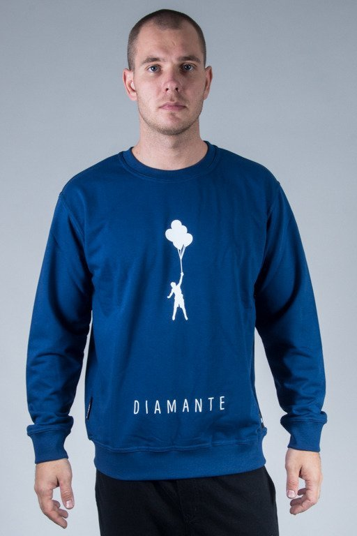 DIAMANTE WEAR CREWNECK MY LIFE 2 NAVY