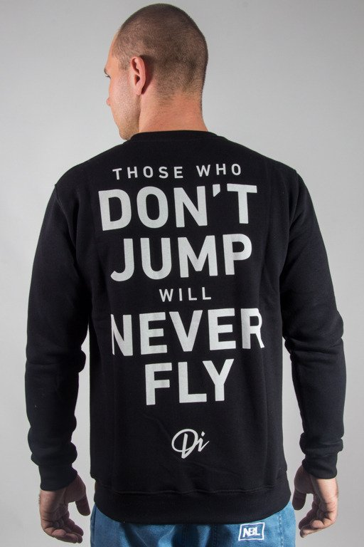 DIAMANTE WEAR CREWNECK NEVER FLY BLACK