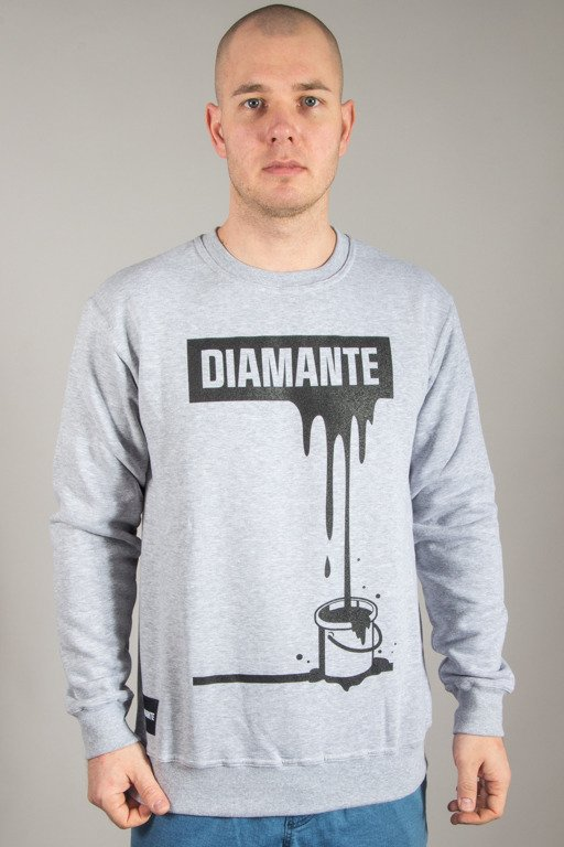 DIAMANTE WEAR CREWNECK PAINT BLACK MELANGE