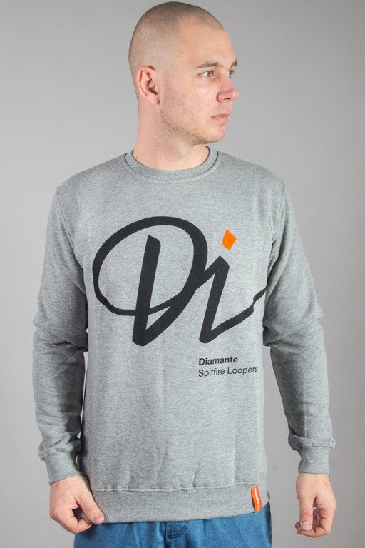 DIAMANTE WEAR CREWNECK SPITFIRE GREY