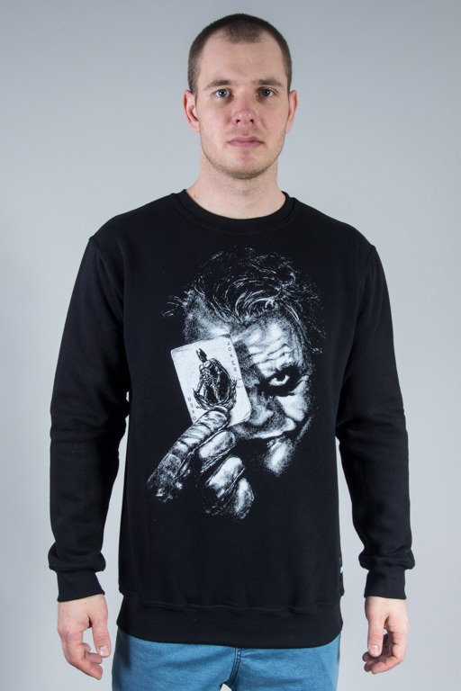 DIAMANTE WEAR CREWNECK WHY SO SERIOUS? BLACK