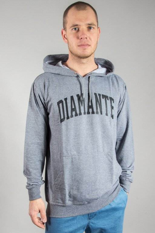 DIAMANTE WEAR HOODIE COLLAGE GREY