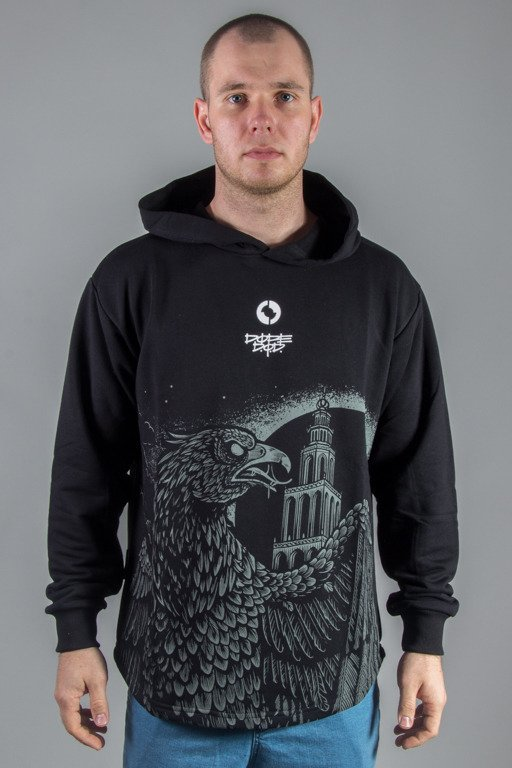 DIAMANTE WEAR HOODIE EAGLE BLACK