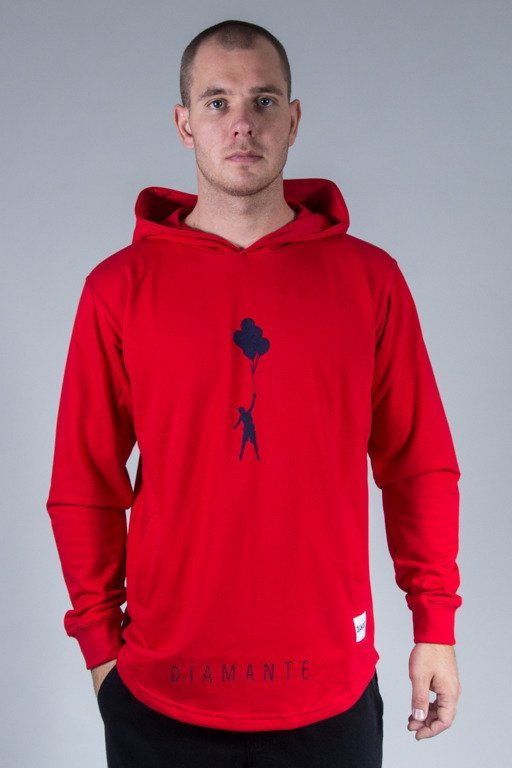 DIAMANTE WEAR HOODIE MY LIFE 2 RED