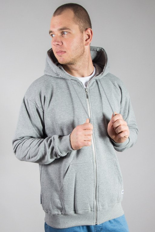 DIAMANTE WEAR HOODIE ZIP BASE MELANGE