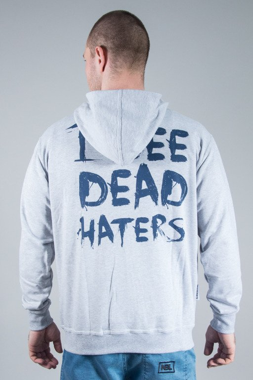 DIAMANTE WEAR HOODIE ZIP I SEE DEAD HATERS GREY