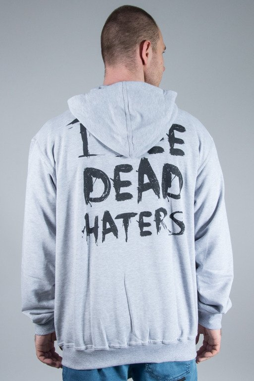 DIAMANTE WEAR HOODIE ZIP I SEE DEAD HATERS GREY-BLACK