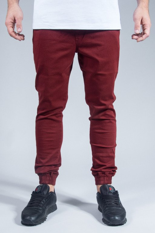DIAMANTE WEAR PANTS CHINO JOGGER CLASSIC BRICK