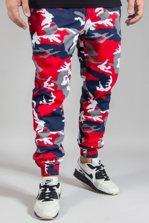 DIAMANTE WEAR PANTS CHINO JOGGER DOPE RED CAMO