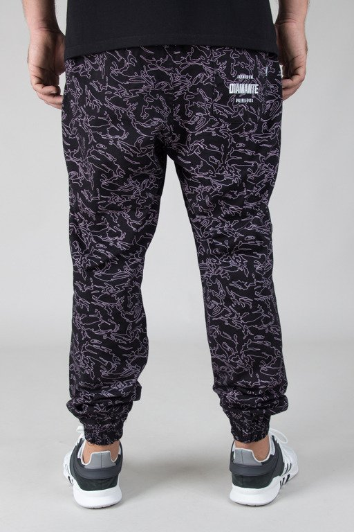 DIAMANTE WEAR PANTS CHINO JOGGER FLIGHT SCHOOL VIOLET CAMO