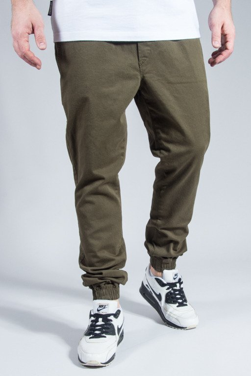 DIAMANTE WEAR PANTS CHINO JOGGER KHAKI