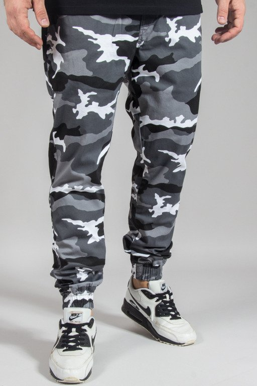 DIAMANTE WEAR PANTS CHINO JOGGER RM BLACK-WHITE CAMO